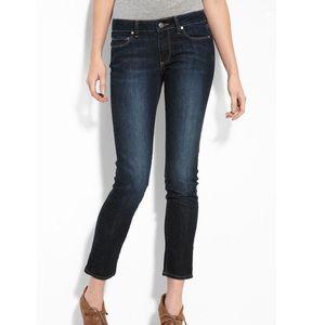 NEW Paige Jeans Blue Denim Skyline Ankle Peg 26